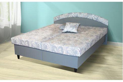 Čalouněná postel Corveta 180x200, šedá, vč. matrace a úp Postele