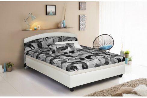 Čalouněná postel Zonda 120x200,šedá,bílá, vč. matrace a úp Postele