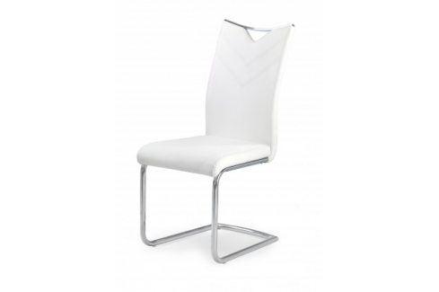 K224 - Jídelní židle (bílá, stříbrná) Židle