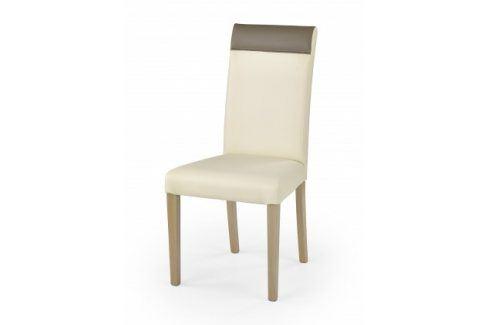 Jídelní židle Norbert krémová, dub sonoma Židle