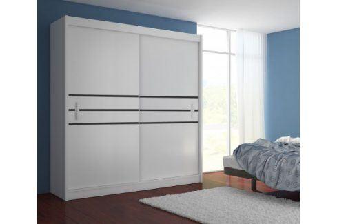 Šatní skříň Multi - 203/215/61 (bílá) Šatní skříně