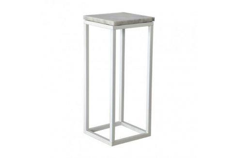 Přístavný stolek Accent - čtverec, nižší (mramor, bílá) Konferenční stolky