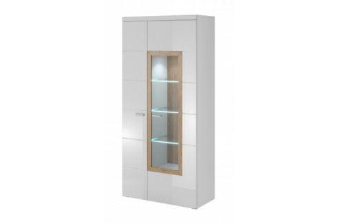 Box In - Vitrína 2 dveře, 1 dveře prosklenné Vitríny