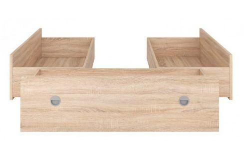 Sada 3 šuplíků k posteli Novara 140x200 (dub sonoma) Postele