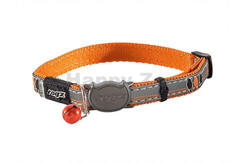Obojek ROGZ Catz NightCat CB 08 D-Orange Birds on Wire (S) 1,1x2 Obojky pro kočky