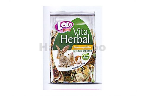 LOLO Vita Herbal zeleninové plátky pro hlodavce 150g Pamlsky pro hlodavce