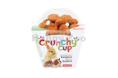 ZOLUX Crunchy Cup mrkev a len 200g Pamlsky pro hlodavce