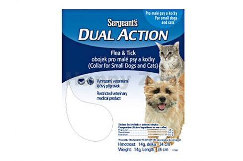 SERGEANT´S Dual pro malé psy a kočky 34cm Antiparazitika pro psy