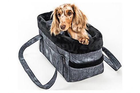Taška SAMOHÝL Džína LUX černá 30cm Tašky pro psy